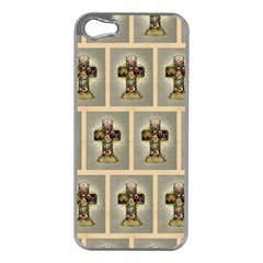 Easter Cross Apple iPhone 5 Case (Silver)