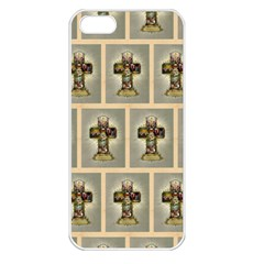 Easter Cross Apple iPhone 5 Seamless Case (White)