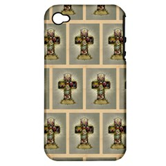 Easter Cross Apple iPhone 4/4S Hardshell Case (PC+Silicone)