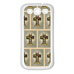 Easter Cross Samsung Galaxy S3 Back Case (White)