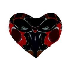 Bold Floral 16  Premium Heart Shape Cushion