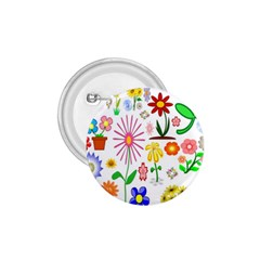 Summer Florals 1.75  Button