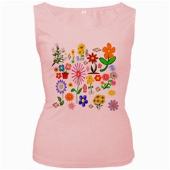 Summer Florals Women s Tank Top (pink)