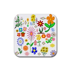 Summer Florals Drink Coasters 4 Pack (square)