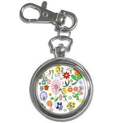 Summer Florals Key Chain Watch