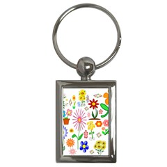 Summer Florals Key Chain (rectangle)