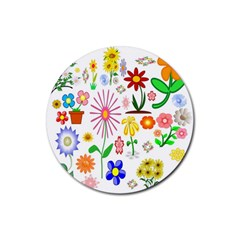 Summer Florals Drink Coasters 4 Pack (round)