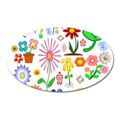 Summer Florals Magnet (Oval)