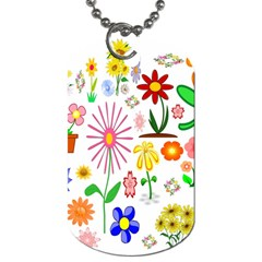 Summer Florals Dog Tag (Two-sided)