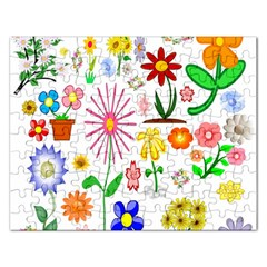 Summer Florals Jigsaw Puzzle (Rectangle)