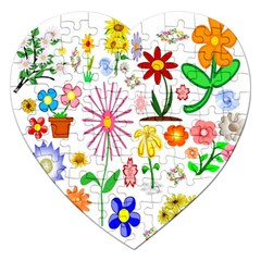 Summer Florals Jigsaw Puzzle (Heart)