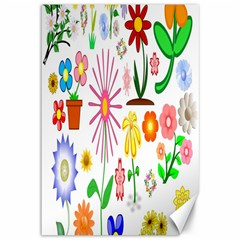 Summer Florals Canvas 12  x 18  (Unframed)