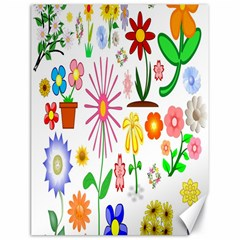 Summer Florals Canvas 18  x 24  (Unframed)