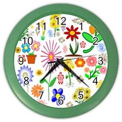 Summer Florals Wall Clock (Color)