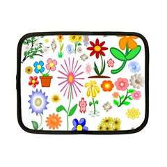 Summer Florals Netbook Sleeve (Small)