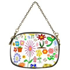 Summer Florals Chain Purse (one Side)