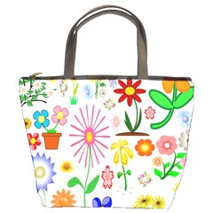 Summer Florals Bucket Handbag
