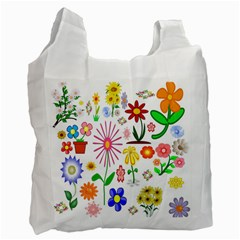 Summer Florals Recycle Bag (One Side)