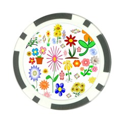 Summer Florals Poker Chip (10 Pack)
