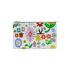 Summer Florals Cosmetic Bag (Small)