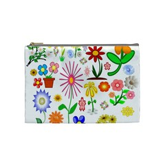 Summer Florals Cosmetic Bag (Medium)