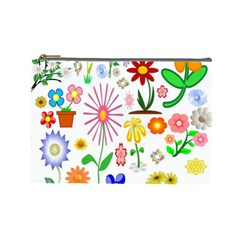 Summer Florals Cosmetic Bag (Large)