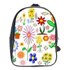 Summer Florals School Bag (Large)