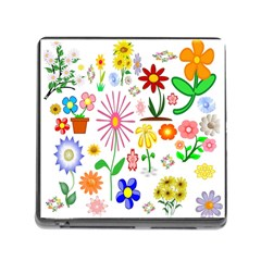 Summer Florals Memory Card Reader With Storage (square)