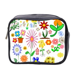 Summer Florals Mini Travel Toiletry Bag (Two Sides)