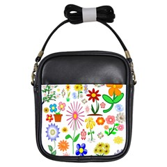 Summer Florals Girl s Sling Bag