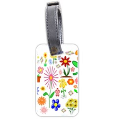 Summer Florals Luggage Tag (two Sides)