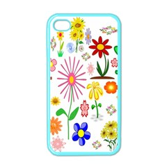 Summer Florals Apple Iphone 4 Case (color)