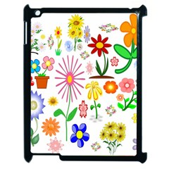 Summer Florals Apple Ipad 2 Case (black)