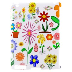 Summer Florals Apple iPad 2 Hardshell Case (Compatible with Smart Cover)