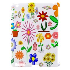 Summer Florals Apple iPad 3/4 Hardshell Case (Compatible with Smart Cover)