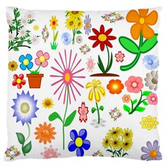 Summer Florals Large Cushion Case (Single Sided)