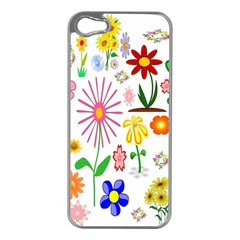 Summer Florals Apple iPhone 5 Case (Silver)