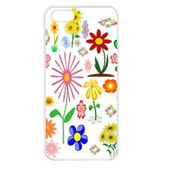 Summer Florals Apple iPhone 5 Seamless Case (White)