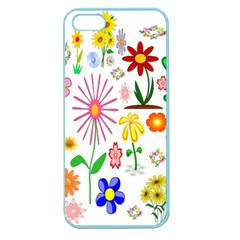 Summer Florals Apple Seamless iPhone 5 Case (Color)