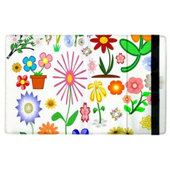 Summer Florals Apple Ipad 2 Flip Case