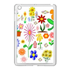 Summer Florals Apple Ipad Mini Case (white)