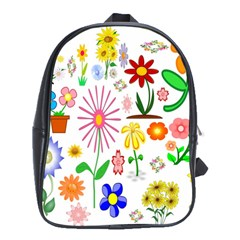 Summer Florals School Bag (XL)