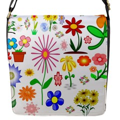 Summer Florals Flap Closure Messenger Bag (Small)