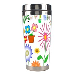 Summer Florals Stainless Steel Travel Tumbler