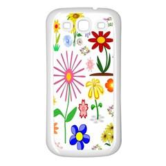 Summer Florals Samsung Galaxy S3 Back Case (White)