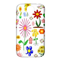 Summer Florals Samsung Galaxy S4 Classic Hardshell Case (PC+Silicone)