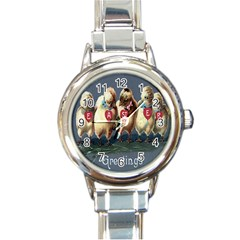 Victorian Easter  Round Italian Charm Watch
