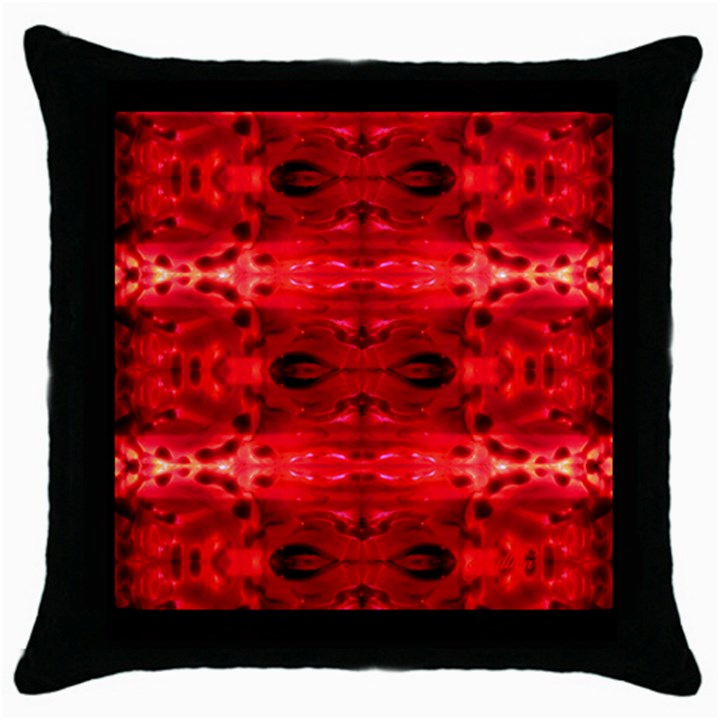 Black Decorative Pillow Cases : Leprosy Black Throw Pillow Case Throw Pillow Case (black) CowCow