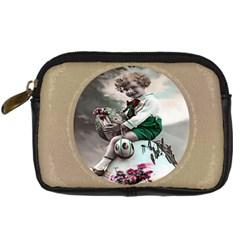 Victorian Easter Ephemera Digital Camera Leather Case