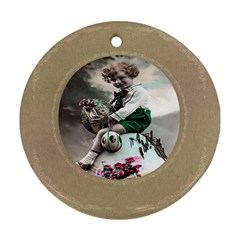 Victorian Easter Ephemera Round Ornament (Two Sides)